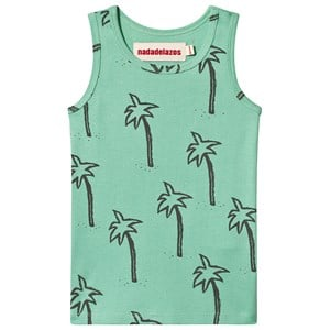 Image of nadadelazos T-Shirt Palmtrees In Green Mint Green 18-24 mdr (3142529703)