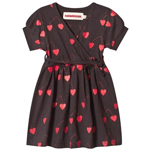 Image of nadadelazos Dress Hearted Cherries Mosquito Black 18-24 mdr (3142529723)