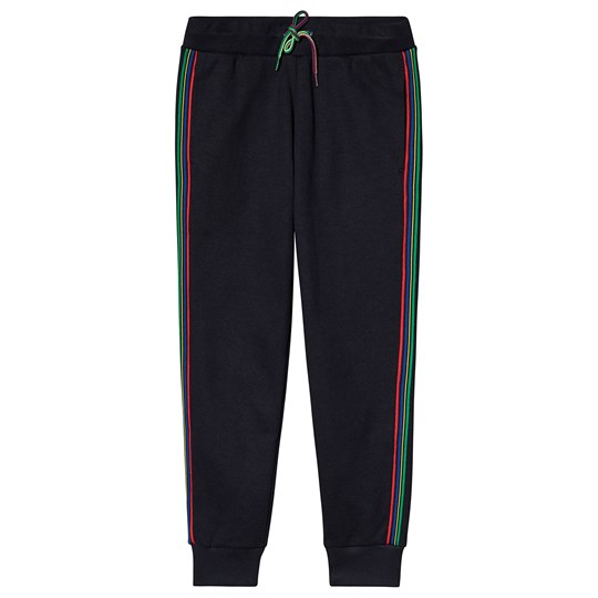 Paul Smith Junior Navy Multiside Stripe Sweatpants with Zebra Embroidered Back 492