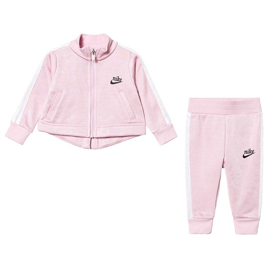 NIKE Pink Shiny French Terry Icon Jacket & Pant Set A9Y