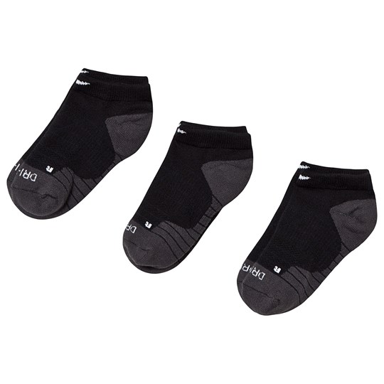 NIKE Black Pack of 3 No Show Dry Cushion Socks 023