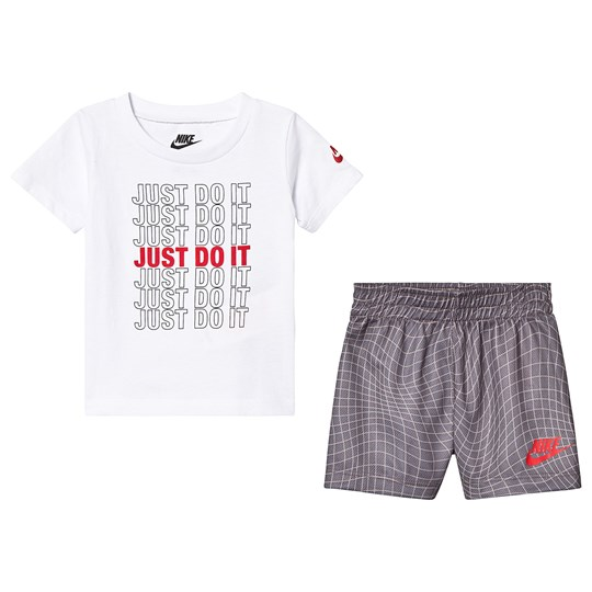 NIKE Tee and Shorts Set Hvid/Grå G4T