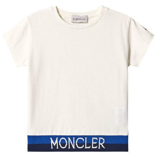 Moncler T-shirt Off-White med Logo 034