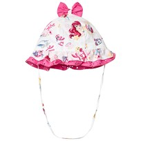 e482d540af63 Monnalisa White The Little Mermaid Frill and Bow Sun Hat 9995