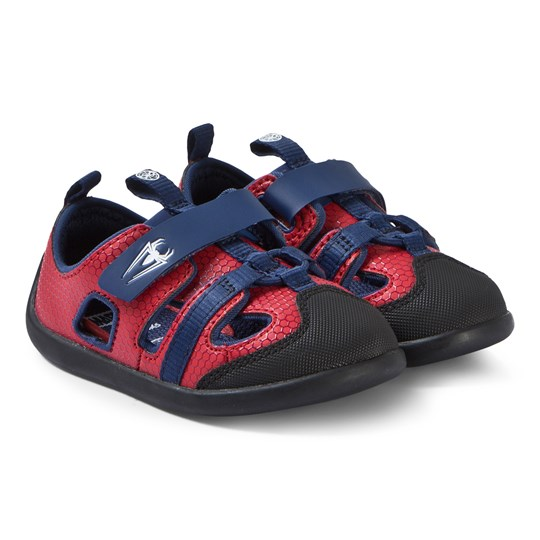 Clarks Red and Blue Spiderman Sandals Rød
