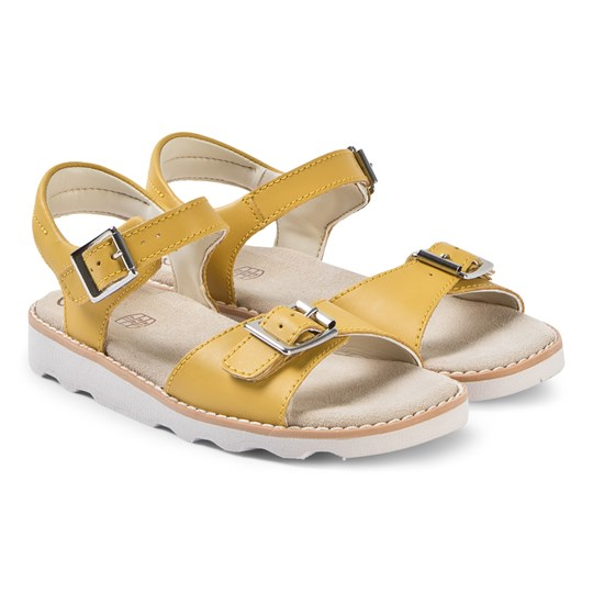 Clarks Crown Bloom Sandaler Gul Yellow Leather