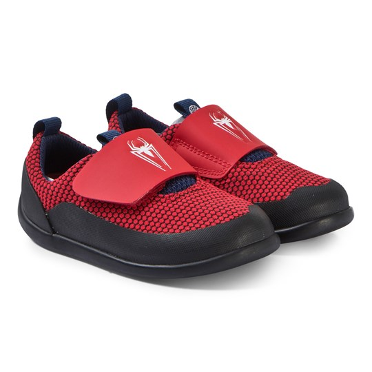 Clarks Red Spiderman Velcro Trainers Red