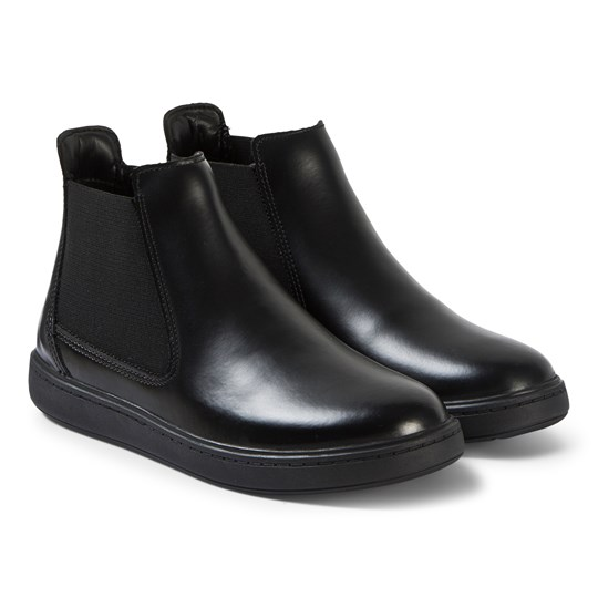 Clarks Black Leather Street Edge Boots Black Leather
