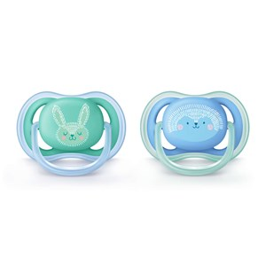 Image of Philips Avent 2-Pack Ultra Air Pacifier 6-18m Blue (3143208255)