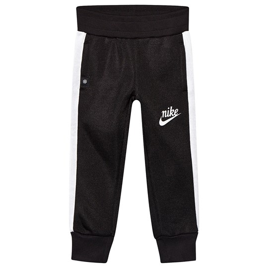 NIKE Black Shiny French Terry Icon Pants 023