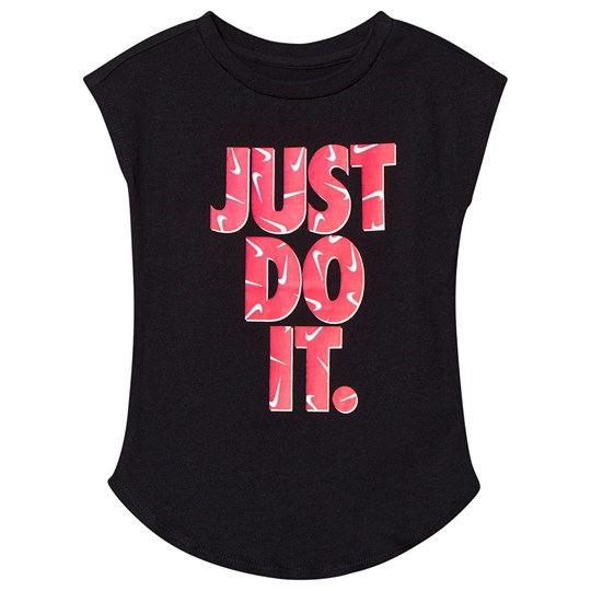 NIKE Black with Pink Just Do It Logo Tee 023