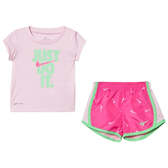 NIKE Pink Just Do It Tee & Tempo Shorts Set P5D
