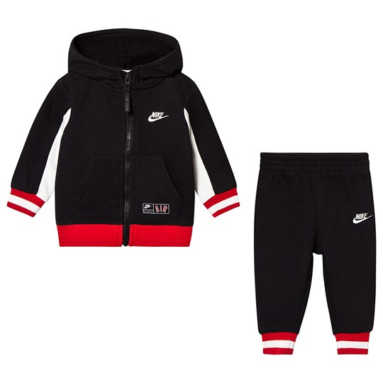 NIKE Black Nike Air Full Zip Hoodie & Sweatpant Set 023