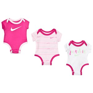 Image of NIKE 3-Pack Baby Bodies Pink 3-6 months (3144403163)