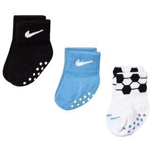 Image of NIKE 3-Pack Football Theme Grippy Socks 12-24 months (3144401391)
