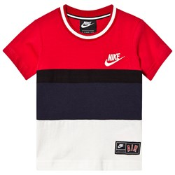 NIKE Red Colourblock Nike Air Tee