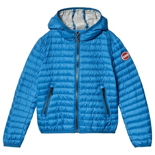 Colmar Blue with Silver Lining Padded Lightweight Hooded Jacket 373 SURFER