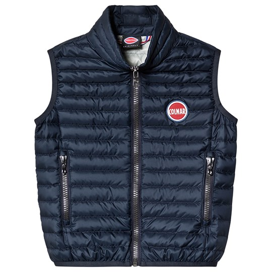 Colmar Navy with Silver Lining Padded Lightweight Gilet 68 Navy