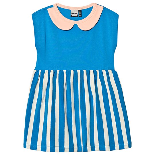 Papu Paris Stripe Penny Colar Dress Blue Blue
