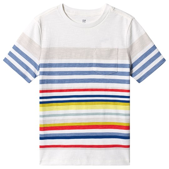GAP Print Short Sleeve Pocket T-Shirt White