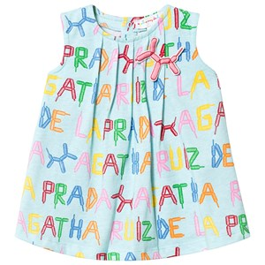 Image of Agatha Ruiz de la Prada Aqua All Over Multi Balloon Branded Dress 12 months (3144405441)