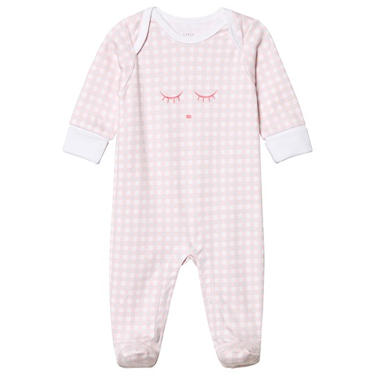 Livly Cover Footie Pink Plaid Pink Plaid