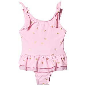 Image of Snapper Rock Frill Skirt Swimsuit Pink/Gold Star 12-18 months (3144405355)