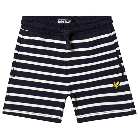 Lyle & Scott Navy Breton Stripe Sweat Shorts 203