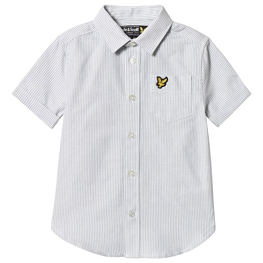Lyle & Scott Sky Blue Fine Stripe Short Sleeve Shirt