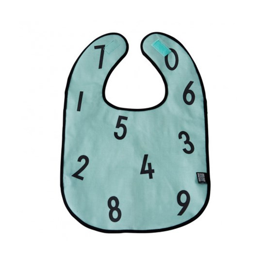 Design Letters Bib the numbers green Green