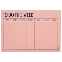 Design Letters Weekly Planner pink