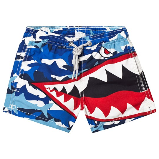 MC2 Saint Barth Blue Army Shark Graphic Swim Shorts ARMY SHARK MIMETIC 31
