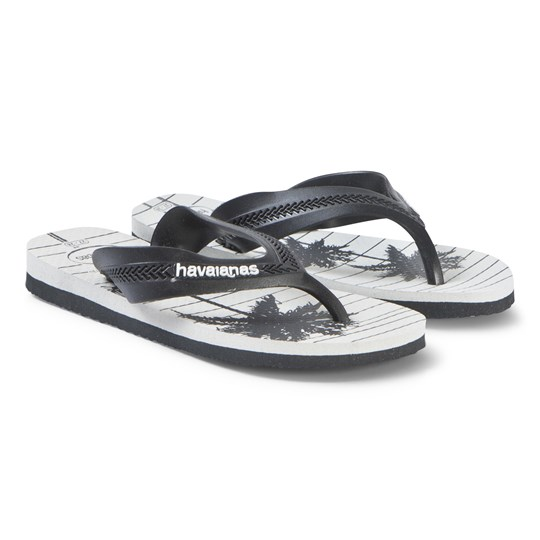 Havaianas Palm Tree Flip Flops Black/White 3749