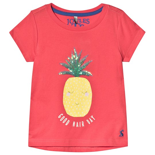 Tom Joule Astra T-Shirt i Koral Coral Pineapple