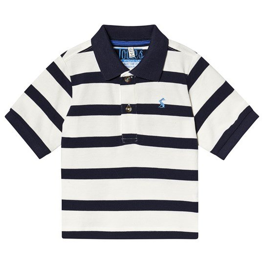 Tom Joule Navy and Cream Stripe Polo Cream Navy Stripe