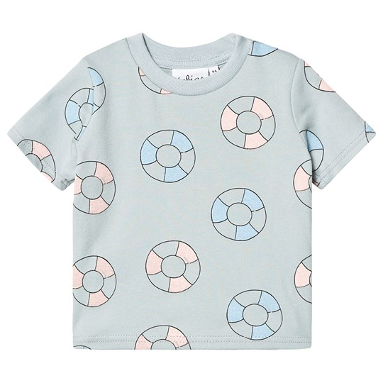 Tobias & The Bear Pool Rings Print Tee Blue