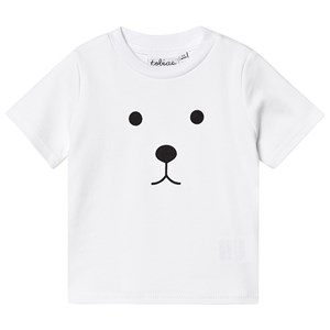 Image of Tobias & The Bear Bear Face Tee White 0-6 months (3145067859)