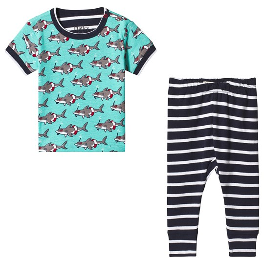 Hatley Snorkeling Sharks Organic Cotton Baby Pajama Set BLUE SHARKS