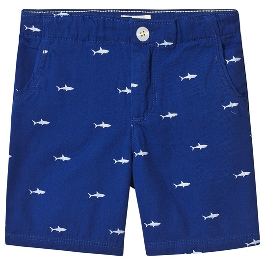 Hatley Tiny Sharks Twill Shorts BLUE SHARKS