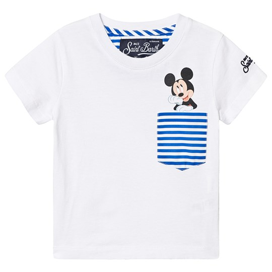 MC2 St Barth Musse T-shirt med Ficka Vit MICKEY POCKET LIN17