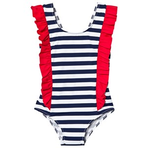 Image of MC2 St Barth Cathy Swimsuit Navy and White 1 year (3145069463)