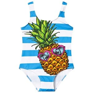 Image of MC2 St Barth Cara Swimsuit Blue and White 12 years (3145069529)