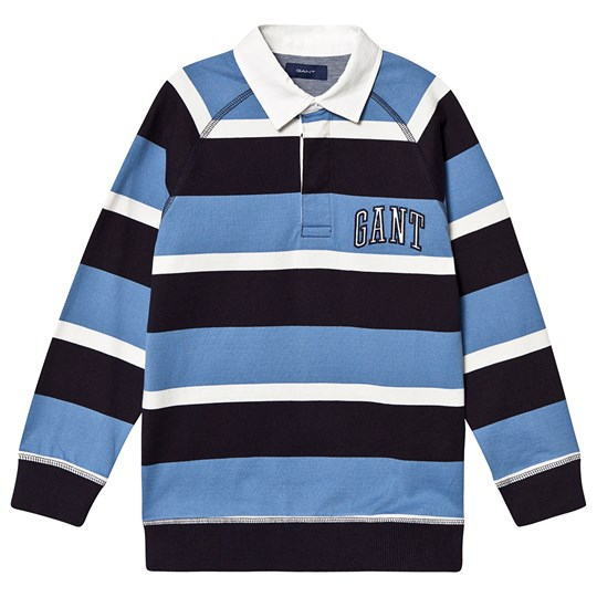 GANT Blue Multi Stripe Branded Rugby 437