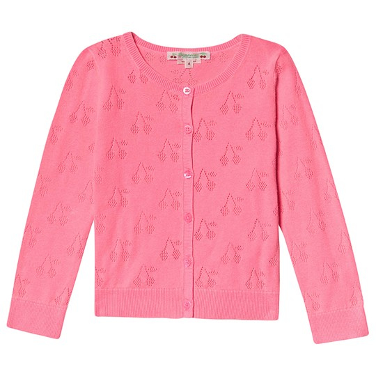 Bonpoint Pink Cherry Knitted Cardigan 026
