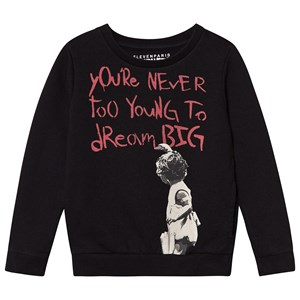 Image of Eleven Paris Banksy Dream Big Sweatshirt Black 10 years (3145733731)