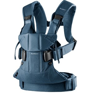 Image of Babybjörn Baby Carrier One Classic Denim/Midnight Blue Cotton Mix One Size (1066917)