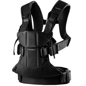 Image of Babybjörn Baby Carrier One Black Cotton Mix One Size (1066915)
