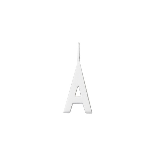 Design Letters 16 mm Matt 925 Sterling Silver - A Silver