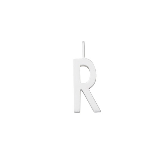 Design Letters Silver Letter Charm 16 mm - R Silver