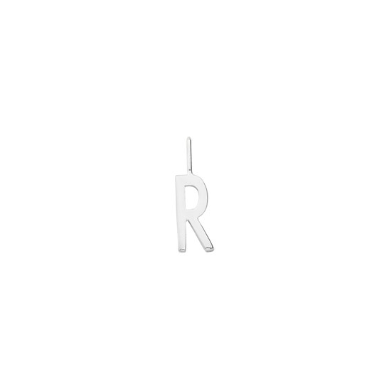 Design Letters Silver Letter Charm 10 mm - R Silver